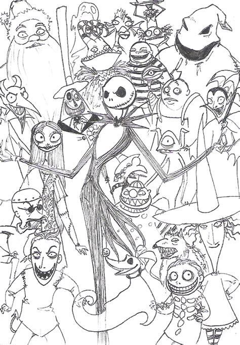 tim burton s the nightmare before coloring book for everybody nightmare before by hirokiro on deviantart