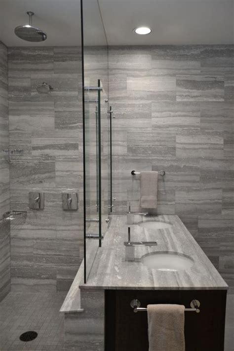 modern gray tile bathroom photo page hgtv