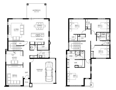 2 story house floor plans 5 bedroom 2 story house plans australia