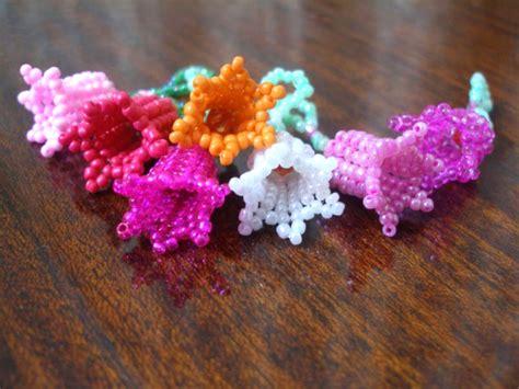 beaded flower pattern earring patterns on 39 pins