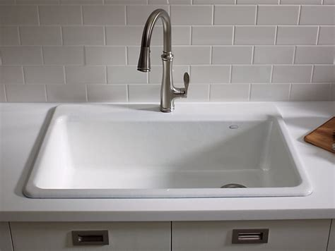 top mount kitchen sink k 5871 1a2 riverby top mount kitchen sink with