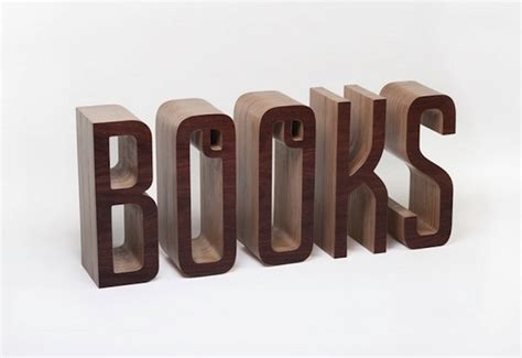picture word book a wonderful typographic bookshelf that spells out the word