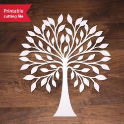laser tree laser cut tree teplate tree vector for silhouette by