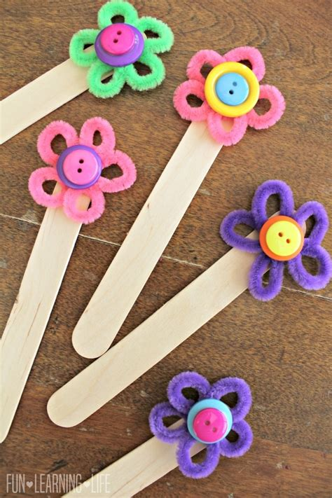 bookmark crafts for flower bookmark craft colorful way to encourage reading