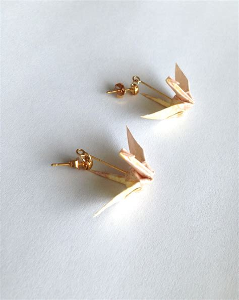 origami bird earrings pink origami bird earrings 183 pendants 183 store