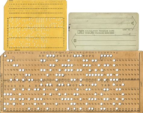 cards on computer hewlett packard punch card in punch cards