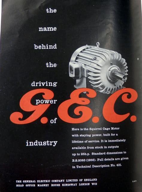 Gec Electric Motors by Gec Electric Motors