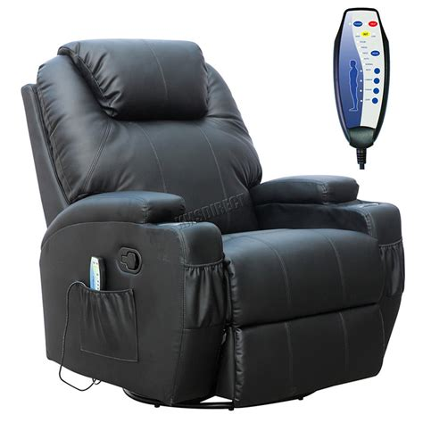 Heat Chair by Foxhunter Bonded Leather Recliner Chair Cinema