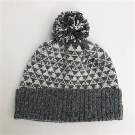 knitting pattern bobble hat bobble hat knitted lambswool by
