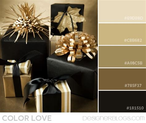 color palette love black amp gold designerblogs com