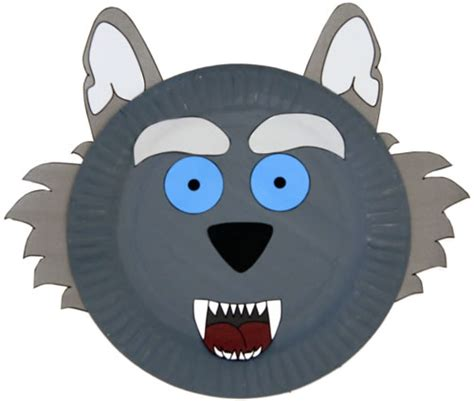 wolf paper plate craft paper plate wolf craft