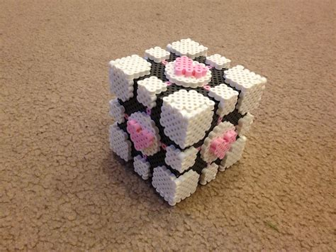 Bec S Perler 3d Companion Cube Portal