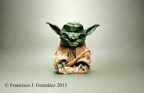 origami jedi master yoda this week in origami non paper material edition