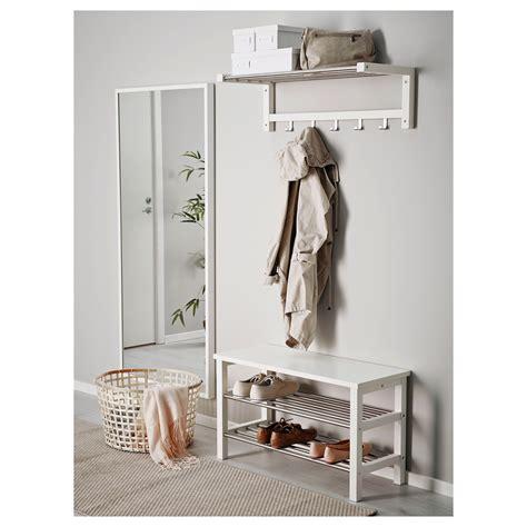 ikea bench with storage tjusig bench with shoe storage white 81x50 cm ikea