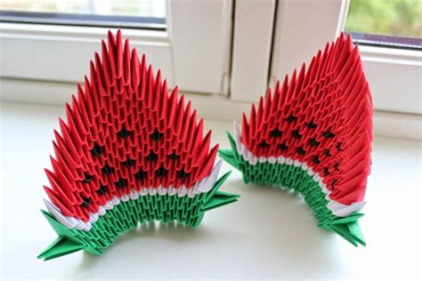 how to make a origami 3d 3d origami watermelon origami flower easy