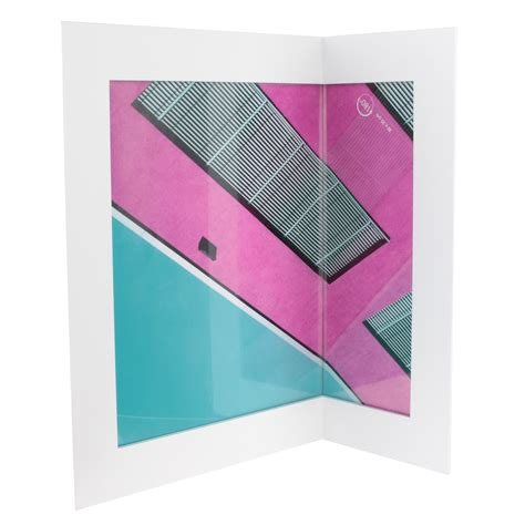 cadre photo angle blanc