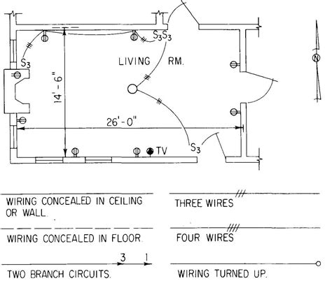 floor plan with electrical symbols electrical drawing for architectural plans