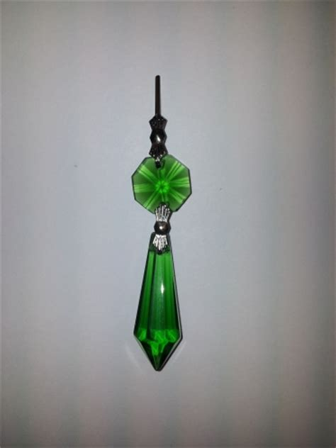 glass chandelier drops green glass chandelier drop and button