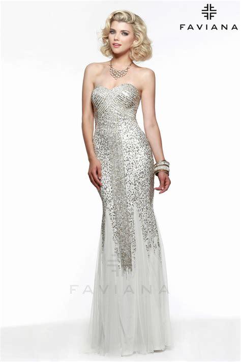 liquid beaded evening gowns faviana s7567 liquid beaded prom dress