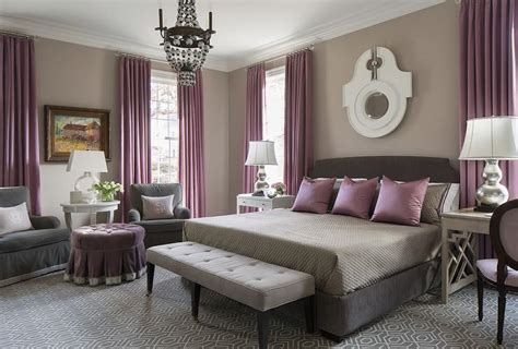 gray and purple bedroom purple and gray bedroom with mismatched nighstands