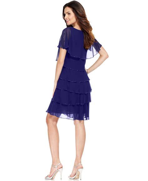 patra beaded dress patra split sleeve beaded tiered dress in