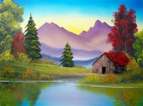 bob ross painting in acrylics bob ross paintings paisajes bob ross