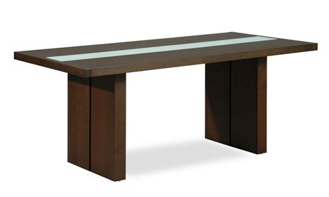dining table contemporary contemporary rectangular dining table with glass stripe