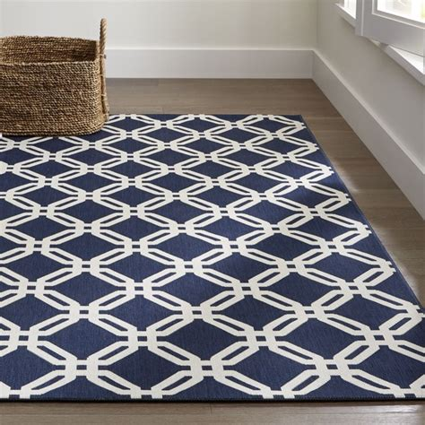 crate and barrel indoor outdoor rugs arlo blue indoor outdoor rug crate and barrel