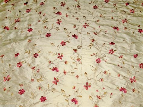 how to embroider on fabric designer floral vines sommerset embroidered silk fabric 10