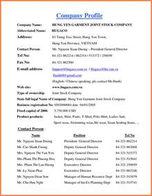 4 how to write a company profile sample company letterhead
