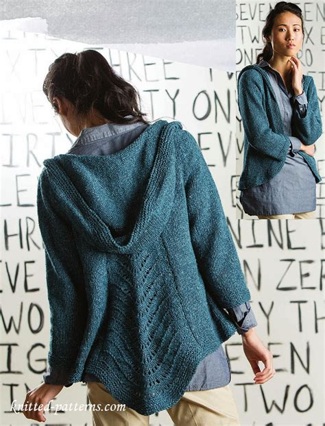 Craft Passions Hooded Cardigan Free Knitting Link Here