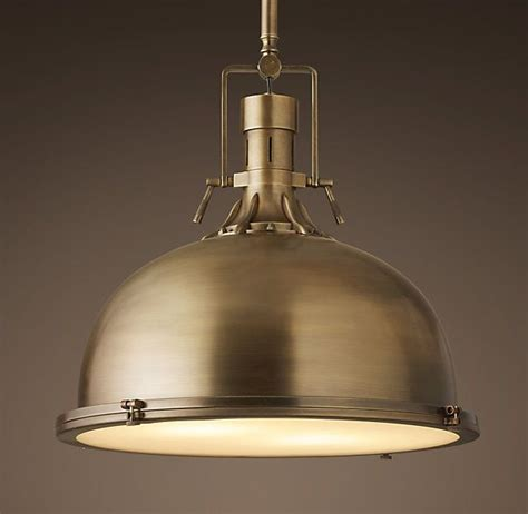 vintage pendant lights for kitchens harmon 19 quot pendant antique brass our kitchen