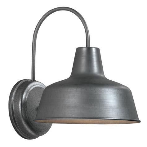 lowes outdoor lighting fixtures shop portfolio ellicott 13 12 in h galvanized sky