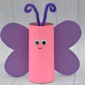 butterfly toilet paper roll craft toilet paper roll butterfly craft the resourceful