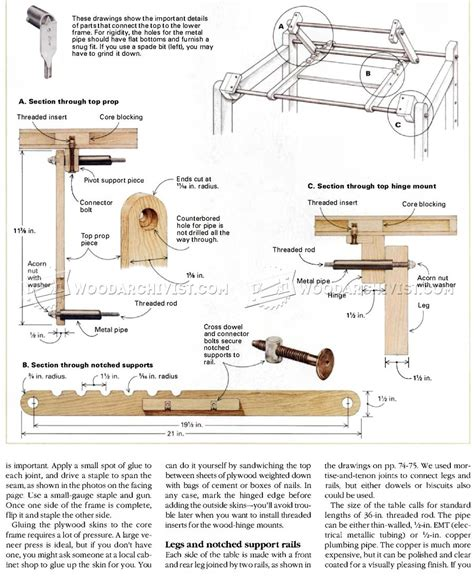 woodworking plans drafting table knockdown drafting table plans woodarchivist