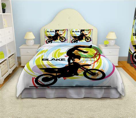 motocross bedding sets motocross comforter for boys white bedding set for