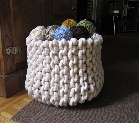 how to knit basket crafts