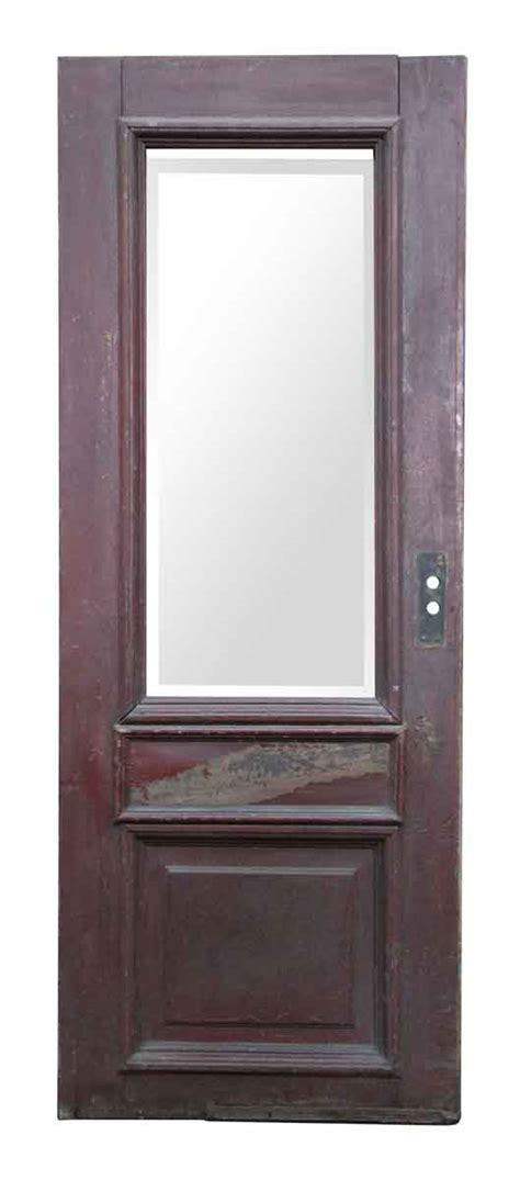 wooden doors with glass panels wooden door with large beveled glass panel olde things