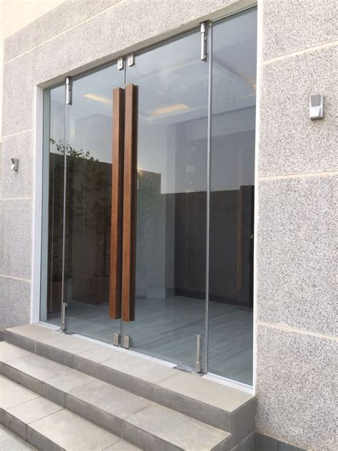 glass door window glass door with wooden handle architecture