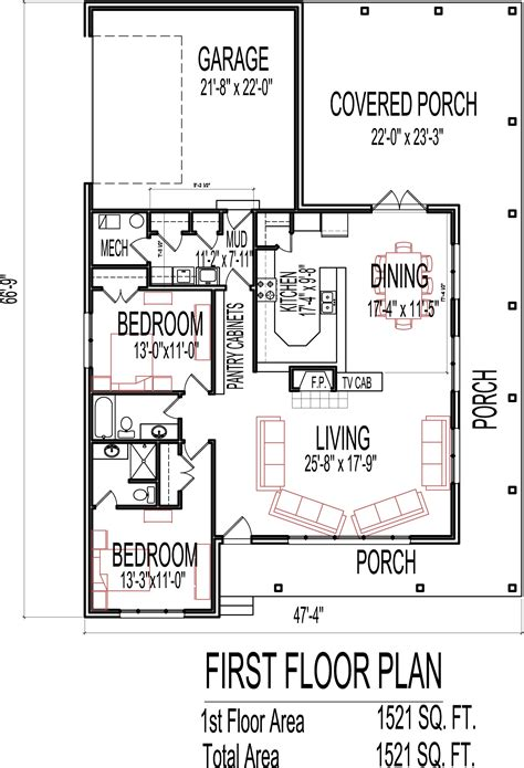 2 bedroom cottage house plans cottage house floor plans 2 bedroom single story design blueprint drawings