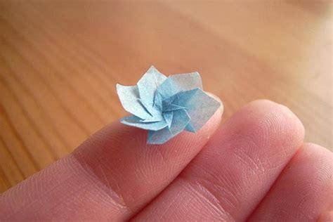 origami mini artist anja markiewicz folds amazingly tiny origami out of