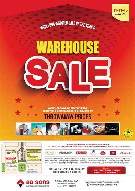 warehouse sales a a sons warehouse sale in dubai 2015