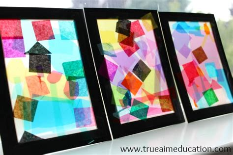 stained glass craft easy crafts for exploring color with kiwi crate