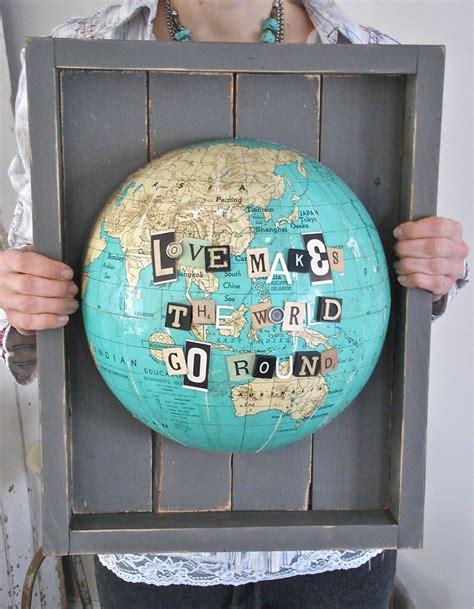 globe craft travel craft alert patina white s repurposed globe