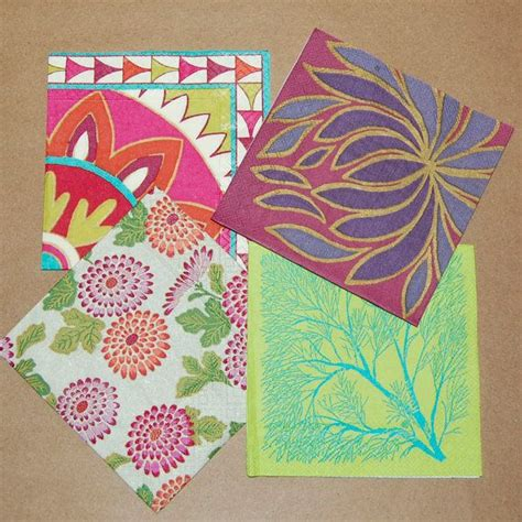 craft ideas with paper napkins decoupage crimson and green set 4 paper napkins for