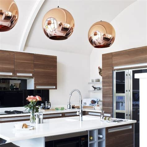 light in the kitchen decordemon copper pendant lights in the kitchen