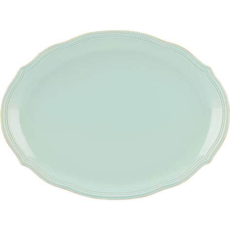 lenox perle bead lenox perle bead blue oval platter platters