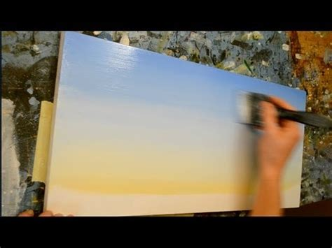 acrylic painting a sky how to paint a sky acrylic painting lesson