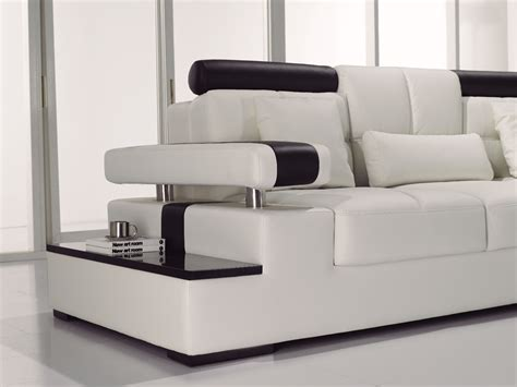 contemporary sectional leather sofa contemporary black white italian leather sectional sofa