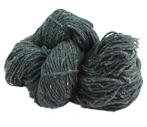 green knitting wool aran wool knitting yarn green fleck made ebay